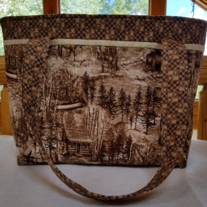 cabin woods handbag