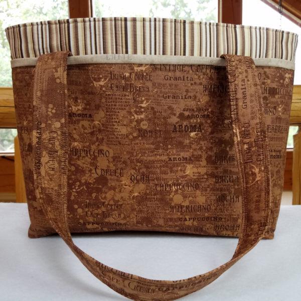 Java Roast handbag, made in the USA
