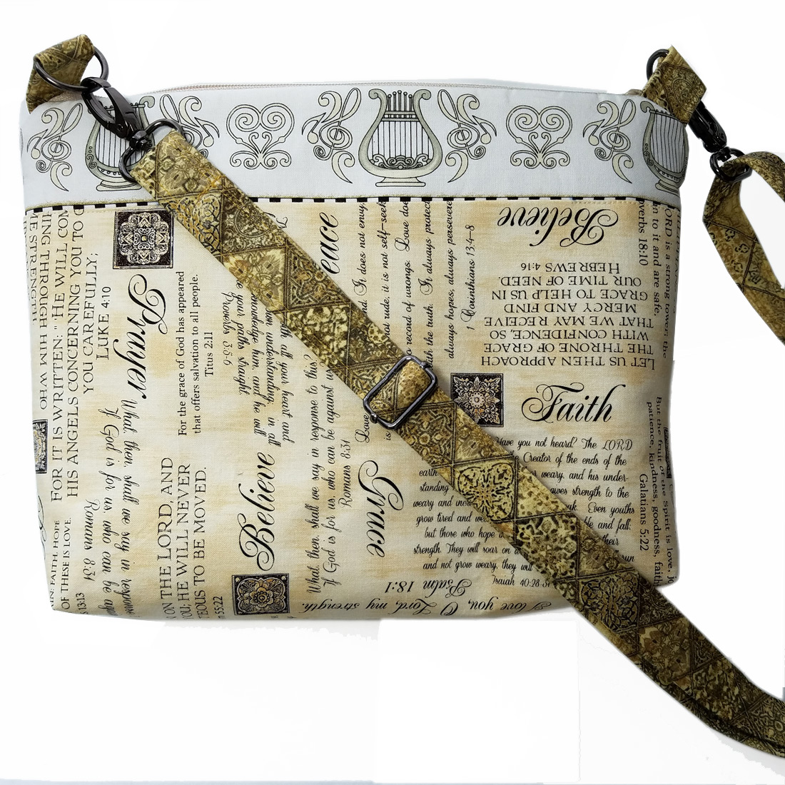 Scripture Crossover Bags