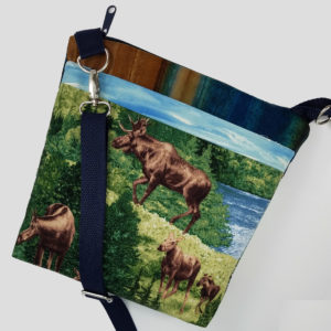 Crossbody Mountains and Moose, side 1 view