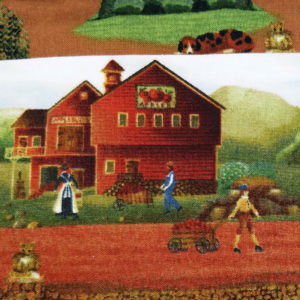 Crossbody, 1812 Farm Life, close view of fabric