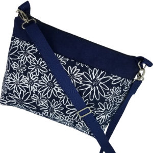 Fleurs on Navy crossbody