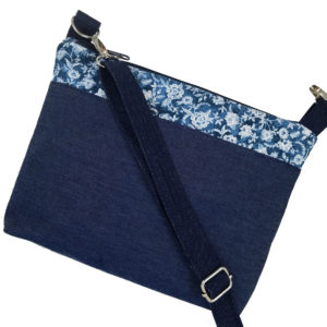 Crossbody Denim & Lace