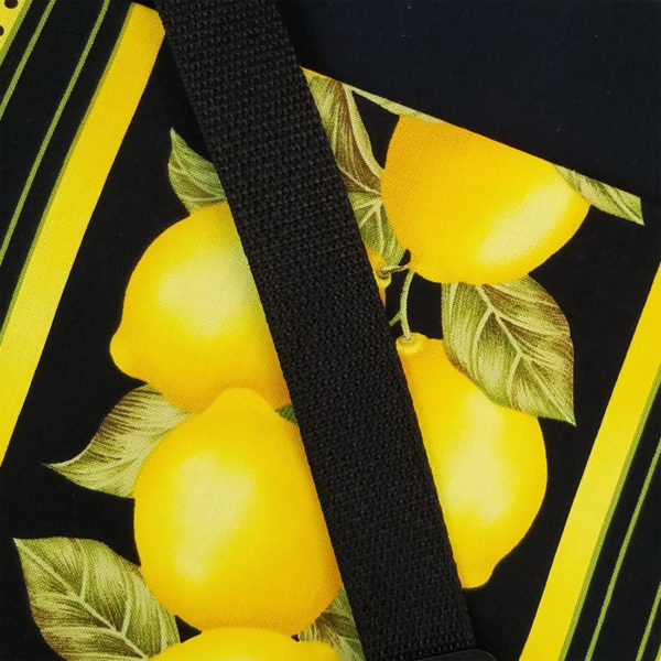Lemon Tree Crossbody, closeup view of fabric