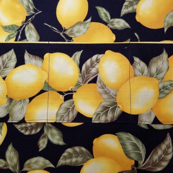 Lemon Tree Crossbody, close up view of inside lining