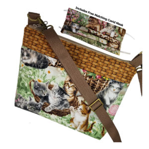 Crossbody Basket of Kittens