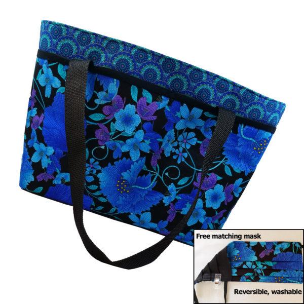 Mosaic plume shoulder bag free mask