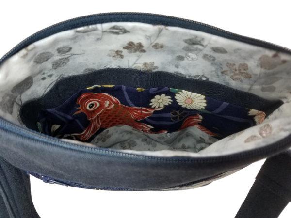 KOI purse crossbody inside