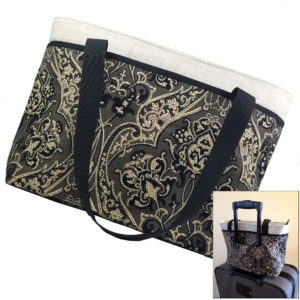 Downton Abby Handbag with suitcase Sleeve