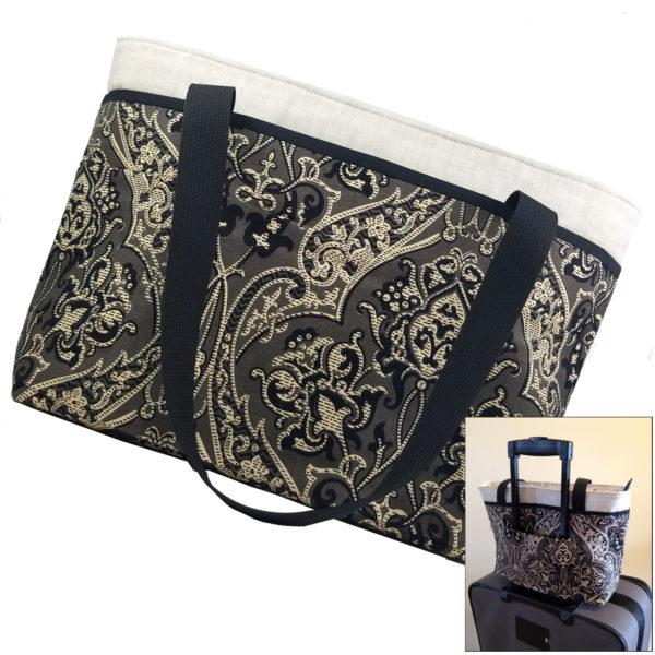 Downton Abby Handbag with suitcase Sleeve