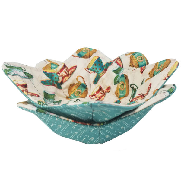 Tea Party microwave bowl cozies