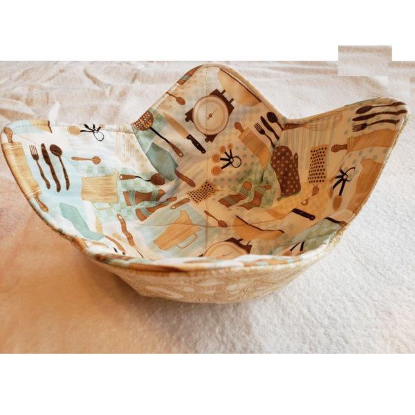 Kitchen microwave bowl cozy