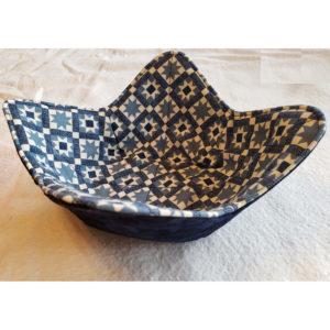 blue quilt microwave bowl cozy