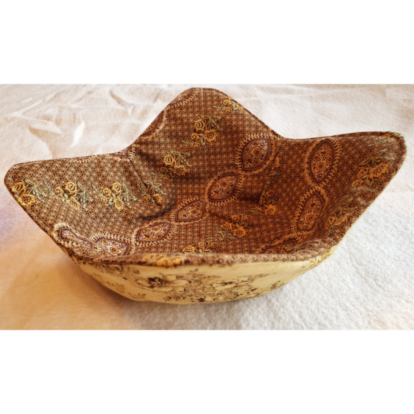 gold n brown microwave bowl cozy
