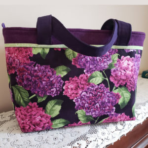 Lilac Garden Zippered Shoulder Bag Top