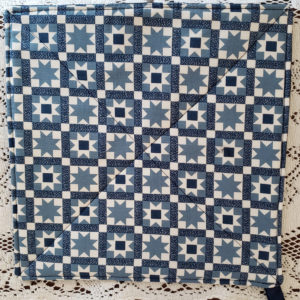 Blue quilt patterned pot holder