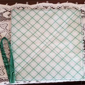 Potholder green diagonal