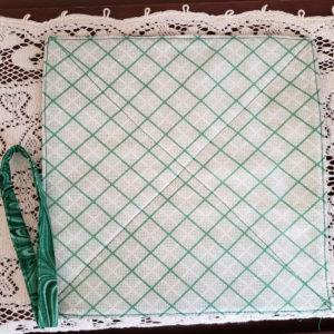 Potholder green diagonal