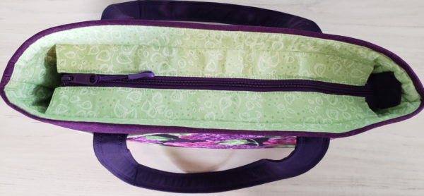 Lilac Garden Shoulder Bag top