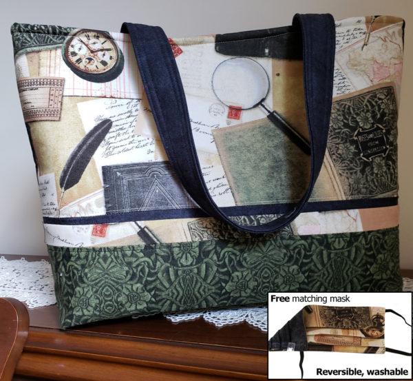 Longfellow Handbag with Matching Mask
