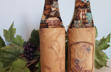 padded wine tote