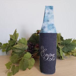 Wine Bottle Tote denim