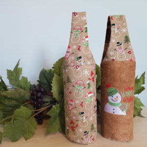 Christmas Wine Tote Warm Winter Wishes