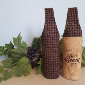 Houndstooth Wine Tote, Cheers