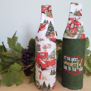 Christmas Wine Tote Old Truck