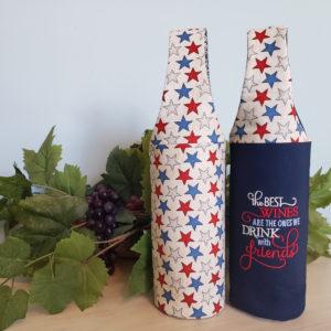 "Patriotic Wine Tote ""The Best Wines..."""