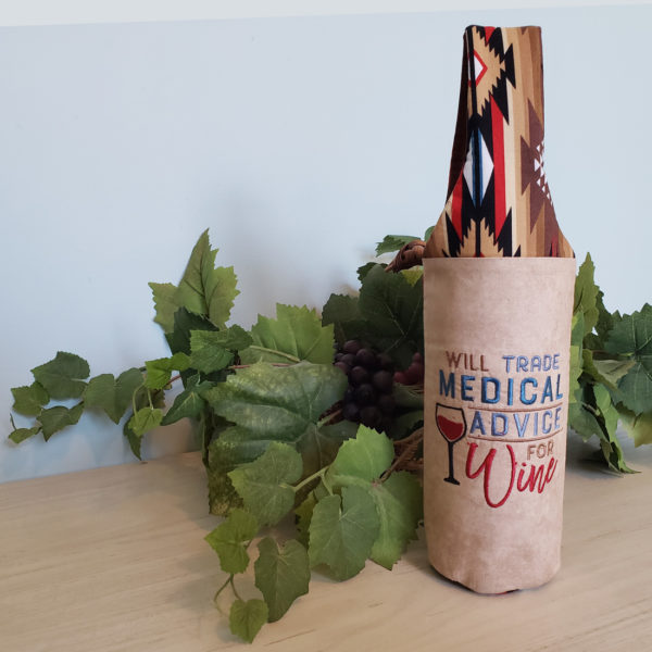 "Wine Tote ""Will Trade Medical Advice"""