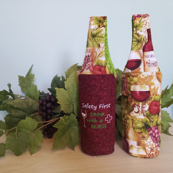 """Wine Bottle Tote """"Safety First..."""""""