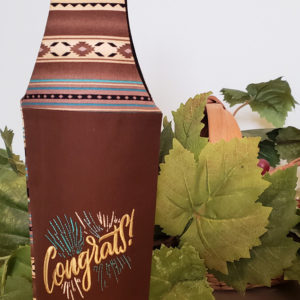 "Wine Bottle Tote ""Congrats"""