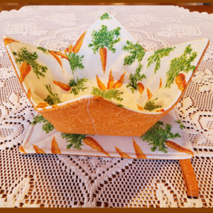 Microwave Bowl Cozy Set Carrots