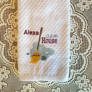 Alexa Clean House Towel