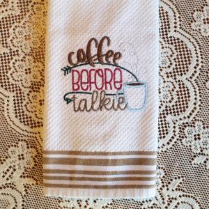 Coffee Before Talkie Towel