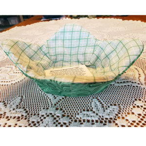 Green White Microwave Cozy