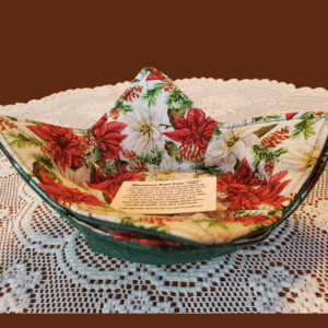 Holiday Poinsettias Microwave Cozy