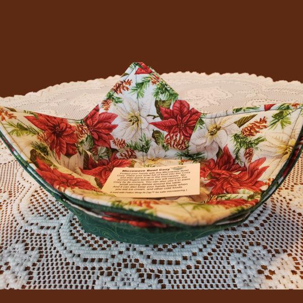 Holiday Poinsettias Microwave Cozy