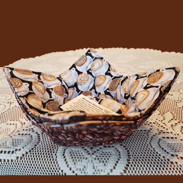 Latte Cups Microwave Cozy