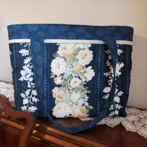 Sapphire Blossoms Shoulder Bag Side 1