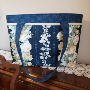 Sapphire Blossoms Shoulder Bag Side 2