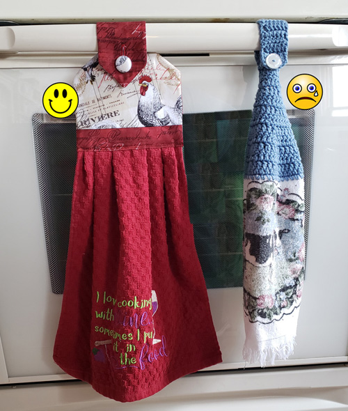 hanging kitchen towels compare